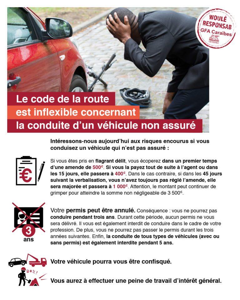 Le code de la route est inflexible concernant la conduite d'un véhicule non assuré