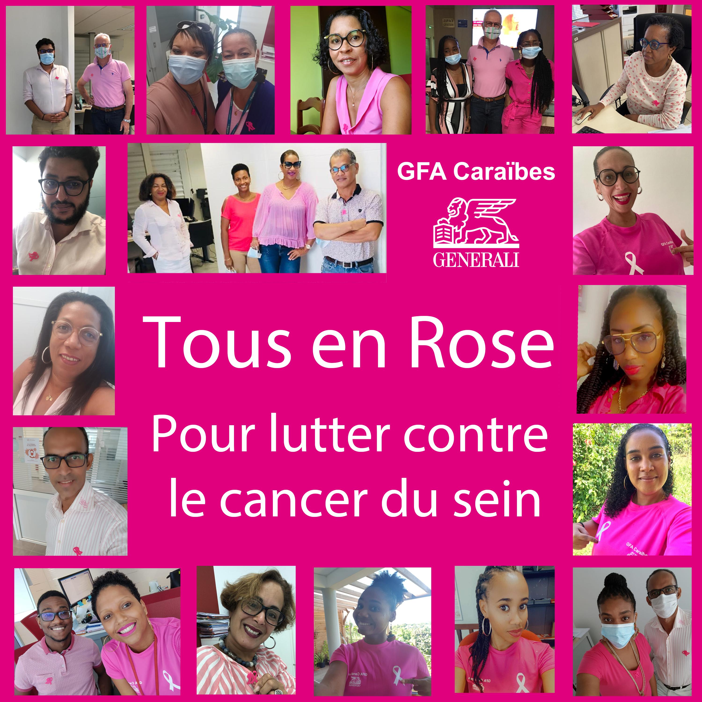 Tous en rose pour lutter contre le cancer du sein. GFA Caraïbes